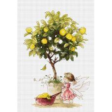 B1111 Лимоны. Набор для вышивки нитками. Luca-s