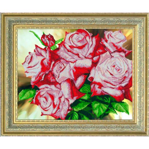 10113 Цветочное сияние. Набор для вышивки бисером Краса и творчество