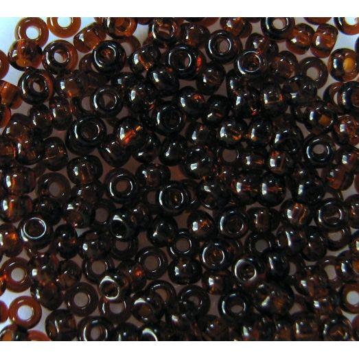 10140 Бисер прозрачный коричневый