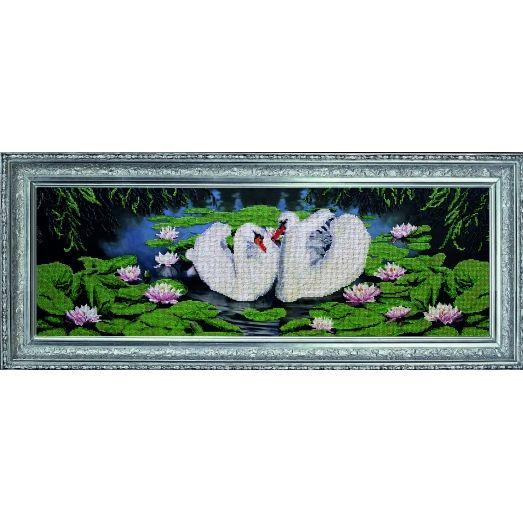 10412 Лебединое озеро. Набор для вышивки бисером Краса и творчество