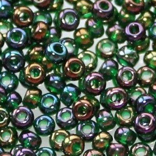 51150 Бисер Preciosa разноцветный прозрачный радужный