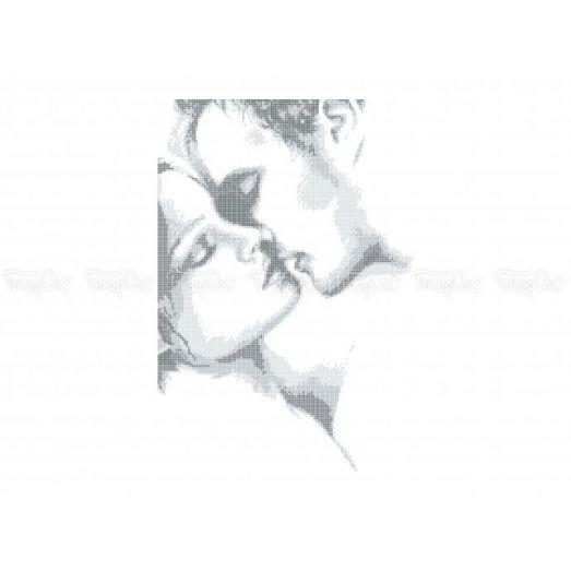 40-311 (30*40) Нежный поцелуй. Схема для вышивки бисером Бисерок