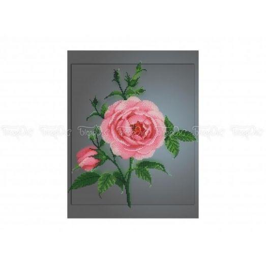30-329 (30*40) Роза. Схема для вышивки бисером Бисерок
