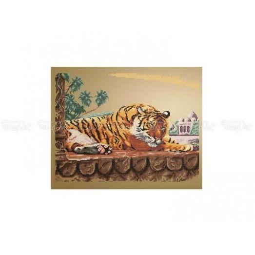 50-202 (40*60) Бенгальский тигр. Схема для вышивки бисером Бисерок