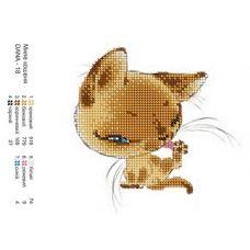 ДАНА-0018 Милый котенок. Схема для вышивки бисером