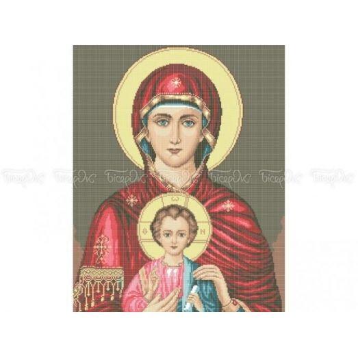 20-205 (40*60) Богородица. Схема для вышивки бисером Бисерок