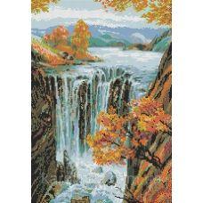 КБ-2016 Водопад. Схема для вышивки бисером ТМ Каролинка