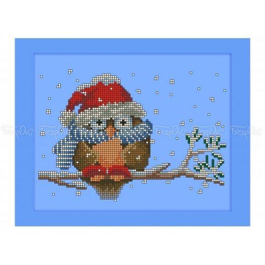 70-404 (20*25) Совушка зимой. Схема для вышивки бисером Бисерок