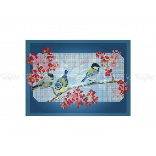 70-310 (30*40) Схема для вышивки Синички. Схема для вышивки бисером Бисерок