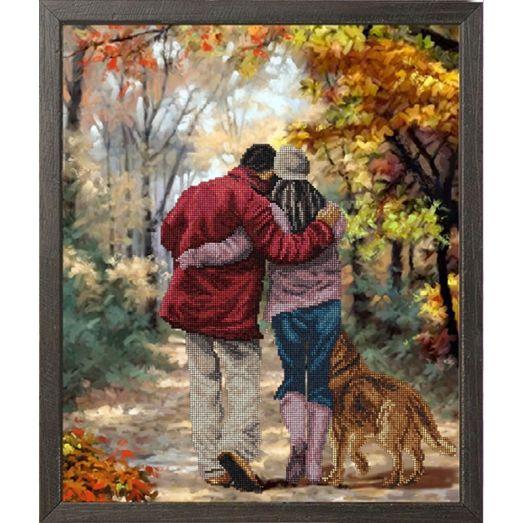 10917 Осень в парке. Набор для вышивки бисером Краса и творчество