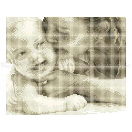40-402 (20*25) Материнская любовь. Схема для вышивки бисером Бисерок