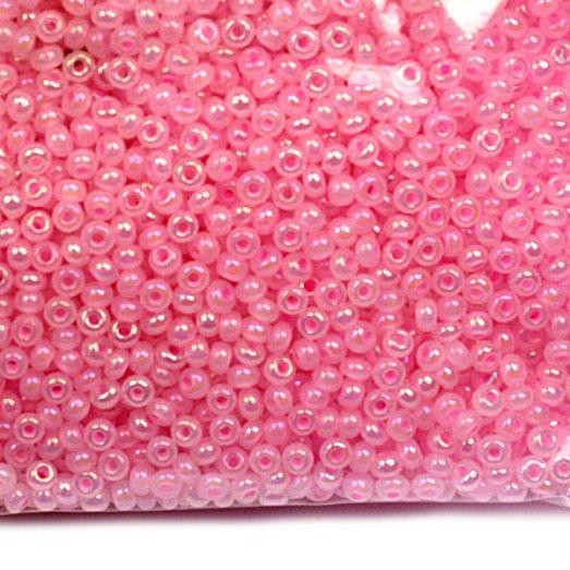 57573 Бисер Preciosa алебастр радужный розовый
