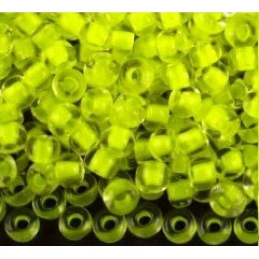 08786 Бисер Preciosa прозрачный с ярко-желтой серединкой
