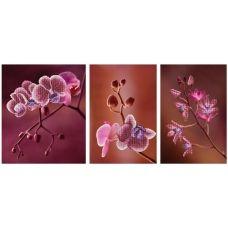 М-11006 Триптих Розовые орхидеи. Набор для вышивки бисером ТМ Miniart Crafts