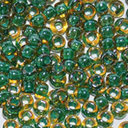 11024 Светлый топазовый с внутренним сине-зелёным окрасом, прозрачный Бисер Preciosa