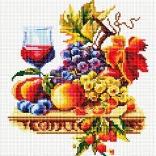 DF164 Вино и фрукты. Набор для алмазной выкладки камнями. Княгиня Ольга