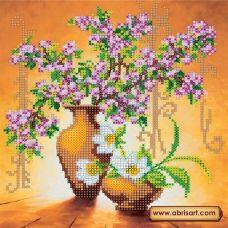 АС-003 Весенние цветы. Схема для вышивки бисером на холсте. АбрисАрт