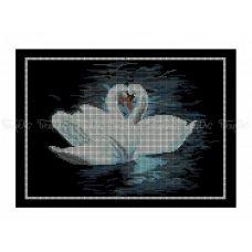 50-340 (30*40) Лебеди. Схема для вышивки бисером Бисерок