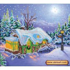 АС-016 Рождество. Схема для вышивки бисером на холсте. АбрисАрт