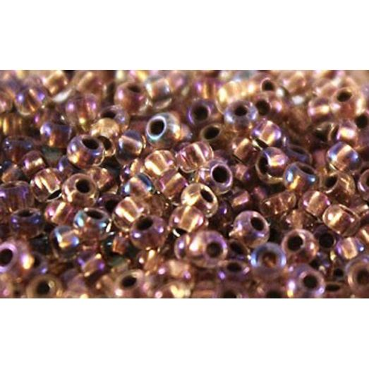 68505 Бисер Preciosa стеклянный оранжево-золотой с серебрянным прокрасом