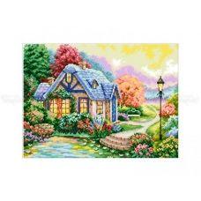 10-361 (30*40) Красочный домик. Схема для вышивки бисером Бисерок