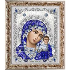 ЖС-4001 Пресвятая Богородица Казанская в жемчуге. Схема для вышивки бисером Благовест