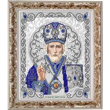 ЖС-4003 Святой Николай в жемчуге. Схема для вышивки бисером Благовест
