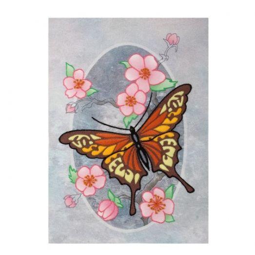 М-0823 Бабочка Монарх. Набор для вышивки нитками ТМ ВДВ