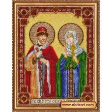 АВ-334 Икона святого князя Петра и святой княгини Февронии. Набор для вышивки бисером. Абрис Арт