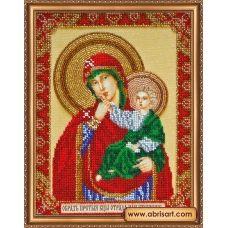 АВ-339 Икона Божией матери Отрада или Утешение. Набор для вышивки бисером. Абрис Арт