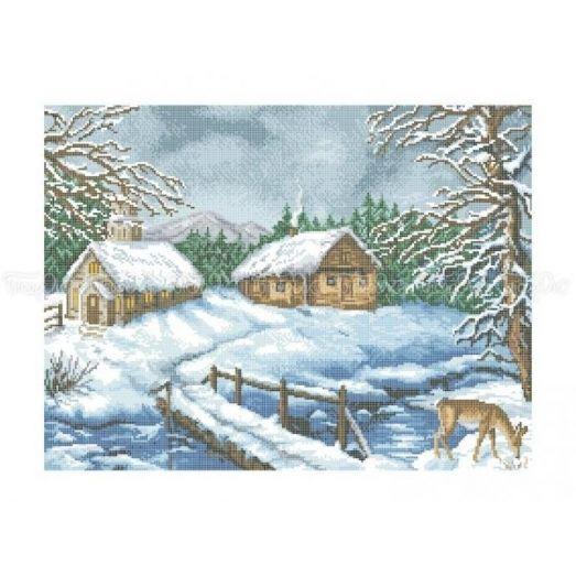 10-216 (40*60) Зимняя идиллия. Схема для вышивки бисером Бисерок