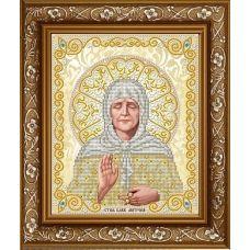 ЖС-4013 Матрона Московская в жемчуге (золото). Схема для вышивки бисером Благовест