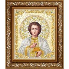 ЖС-4015 Целитель Пантелеймон в жемчуге (золото). Схема для вышивки бисером Благовест