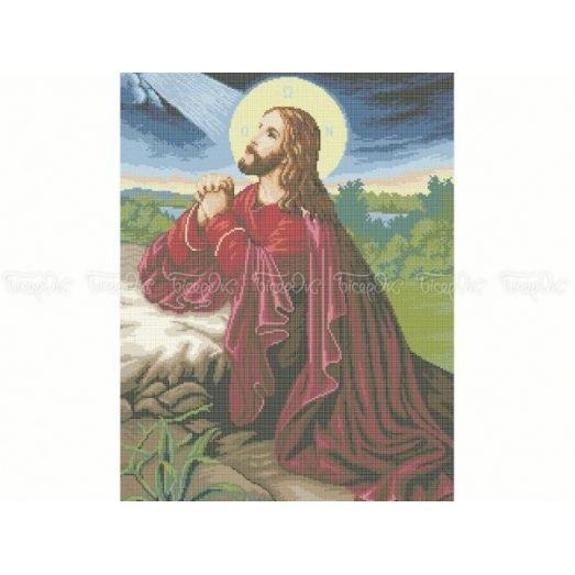 20-213 (40*60) Иисус Христос. Схема для вышивки бисером Бисерок