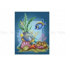 60-304 (30*40) Рыбки. Схема для вышивки бисером Бисерок
