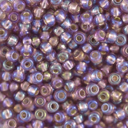 27019 Бисер Preciosa радужный прозрачный с серебрянным прокрасом