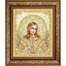 ЖС-4007 Ангел Хранитель в жемчуге (золото). Схема для вышивки бисером Благовест