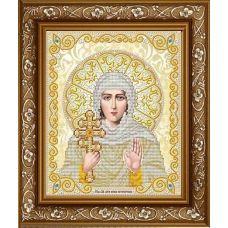 ЖС-4010 Святая Ксения в жемчуге (золото). Схема для вышивки бисером Благовест