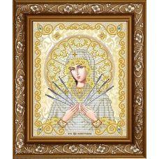 ЖС-4012 Пресвятая Богородица Семистрельная (золото). Схема для вышивки бисером Благовест