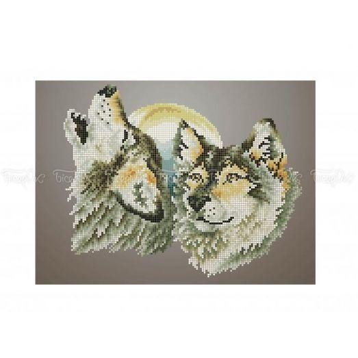 50-404 (20*25) Волки. Схема для вышивки бисером Бисерок