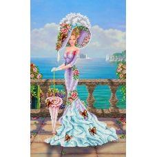КБ-2021 Венецианская дама. Схема для вышивки бисером ТМ Каролинка