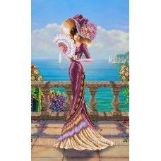 КБ-2022 Венецианская дама. Схема для вышивки бисером ТМ Каролинка