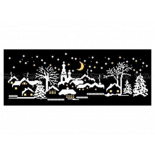 10-388 (30*40) Зимняя ночь. Схема для вышивки бисером Бисерок