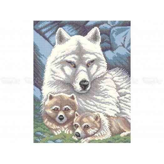 50-352 (30*40) Волки. Схема для вышивки бисером. Бисерок