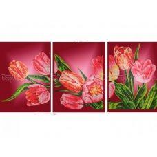ЧМ-А2-037 Триптих Тюльпаны. Схема для вышивки бисером Бисерок