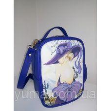 М1С2 (цвет) Сумка-рюкзак для вышивки бисером, синий. ТМ ЮМА
