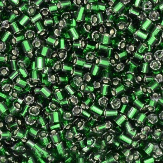 57060 Рубка Preciosa прозрачная зеленая серебряная серединка внутри