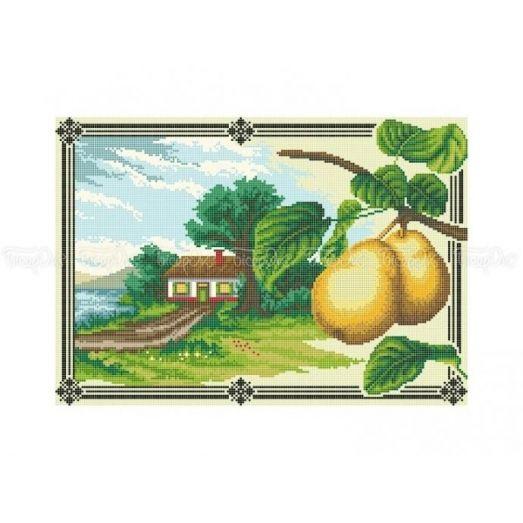 10-368 (30*40) Грушевый сад. Схема для вышивки бисером Бисерок