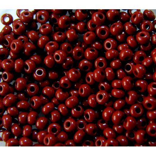 13600 Бисер непрозрачный, бордовый, натуральный