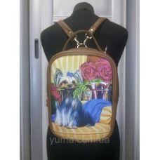 М1С12 (цвет) Сумка-рюкзак для вышивки бисером. ТМ ЮМА